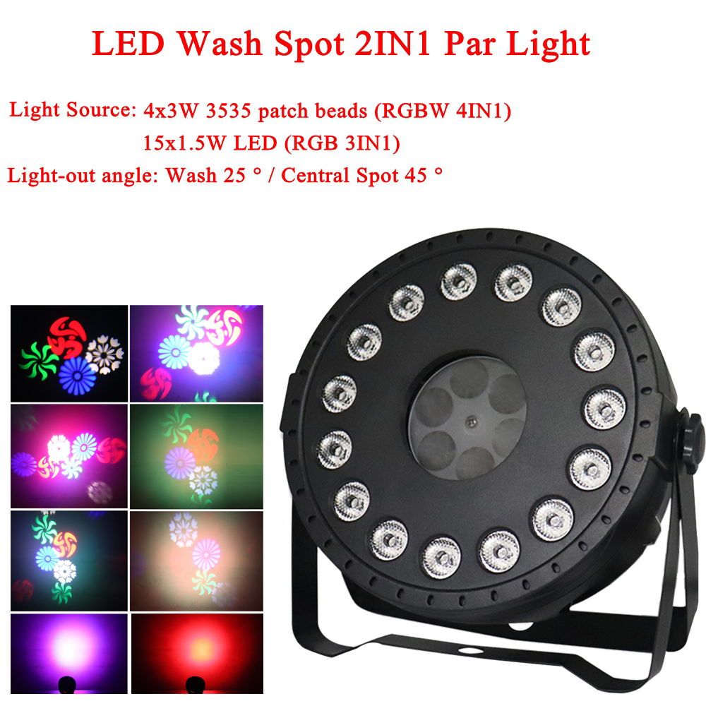 LED Disco Light Music Sound Party Light 30W LED Wash Spot 2IN1 Stage Effect Lighting Projector Christmas DJ Bar Show Lamp