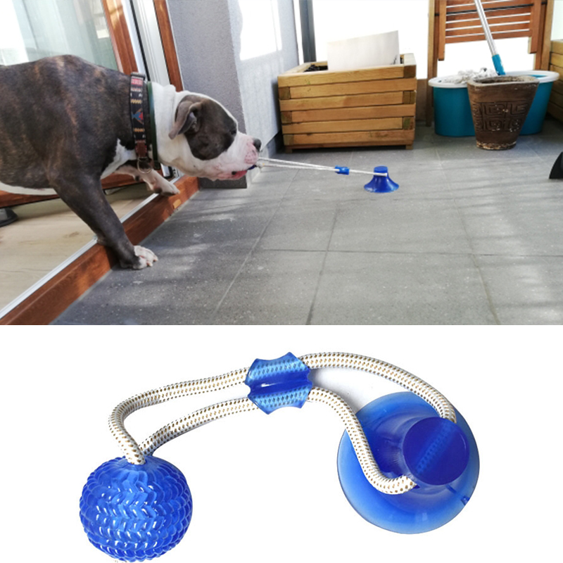 Dog Toys Pet Puppy Interactive Suction Cup Push TPR Ball Toys Molar Bite Toy Elastic Ropes Dog Tooth Cleaning Chewing Supplies