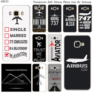 Airplane DIY Airstrip Number Soft TPU Silicone phone case for Samsung J8 J7 J6 J5 Prime 2017 J4 Plus J3 2018 J2 Core J610 J7Max(China)