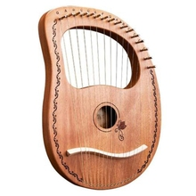 Lyre Harp 16 Strings Harp Portable Small Harp with Durable Steel Strings Wood String Musical Instrument