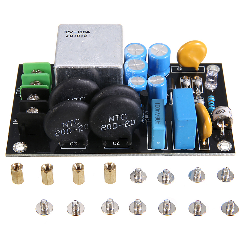 1pc Soft Start Protection Boards High-power Soft-start Power Circuit Board Relay Thunder Protection Module 220V-275V 100A