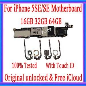 Image 1 - وصل حديثًا لوحة أم أصلية لعام 100% لهاتف iPhone 5SE لوحة رئيسية غير مقفلة مزودة بلوحة منطقية معرف تعمل باللمس وظيفة كاملة