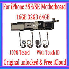 New Arrival 100% Original Motherboard For iPhone 5SE SE Unlocked Mainboard With Touch ID Logic Board Full Function
