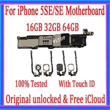 New Arrival 100% oryginalna płyta główna dla iPhone 5SE SE odblokowany płyta główna z Touch ID Logic Board pełna funkcja