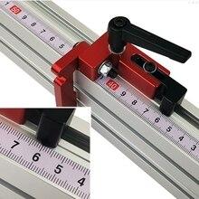 Medidor de inglete de parada en T de 75mm de altura, perfil de aluminio de Sierra de mesa, tapón de ranura en T de 75mm de altura, herramienta para carpintería L29K