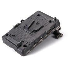 Tilta Placa de batería de montaje de TA BTP2 V G V, adaptador de barra LWS de 15mm para alimentar BMPCC 4K 6K, accesorios para jaula de cámara