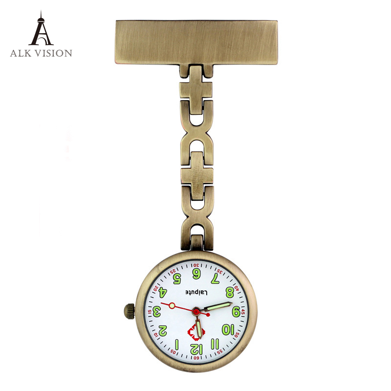 ALK Classic FOB Pocket Watch Nurse Watches Waterproof Silver Gold Rose Gold Lapel Medical Gift For Hospital Doctor Dropshipping