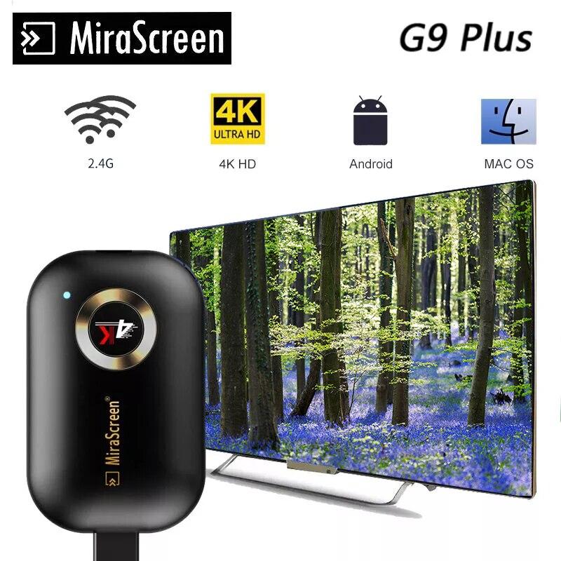 4K TV Stick 2,4G G9 беспроводной DLNA AirPlay HDMI Wifi дисплей зеркальный экран приемник Google home & Chromecast Netflix для Android