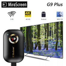 4K TV Stick 2.4G G9 Wireless DLNA AirPlay HDMI -compatible Wifi Display Mirror Screen Receiver Google home Netflix for Android