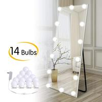 Hollywood DIY LED Vanity Lights Strip Kit with 14 Dimmable Light Bulbs for Dressing Mirror & Makeup Table Mirror