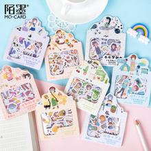 Mo.Card Wear diary Paper sticker Scrapbooking Decoration label 1 lot = 16 packs Wholesale