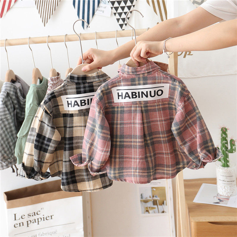 Kids Boys Girls Plaid Blouse Shirts Clothes Outfits Shirts For Boys Long Sleeve Shirts Toddler Blusas Shirts Mujer De Moda 2019