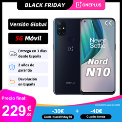 Глобальная версия OnePlus Nord N10 5G мобильный телефон 6 ГБ 128 Snapdargon 5G 6,49 ''90 Гц FHD + безрамочный экран с Дисплей Warp заряжайте 30T NFC