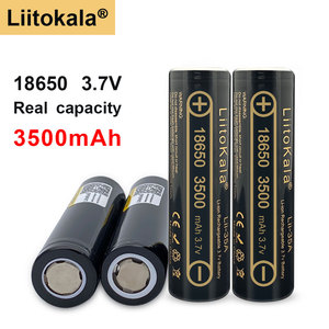 100% Original high quality Liitokala Lii-35A 3.7v 18650 battery 3500mah rechargeable batteries 18650 battery for flashlight
