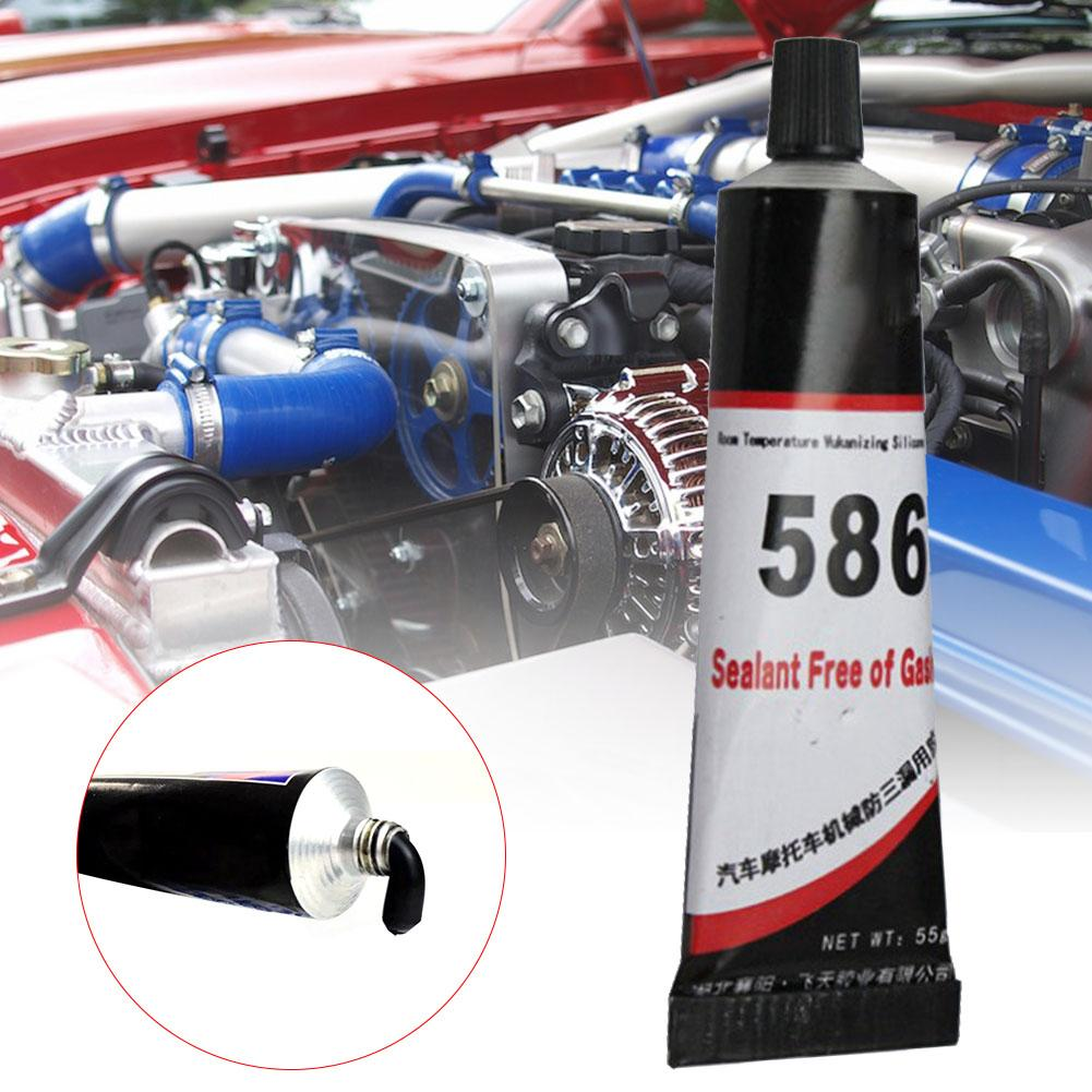 High Quality 586 Car Sealant Silicone Free-Gasket Waterproof To Oil Resist Black High Temperature Sealant Repairing Glue 55g