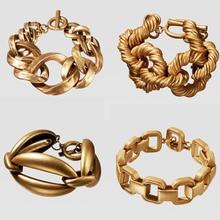 Dvacaman ZA новейший Золотой Ограниченная серия квадратный браслет-цепочка для женщин модные ювелирные изделия дружба вечерние браслеты с подвесками