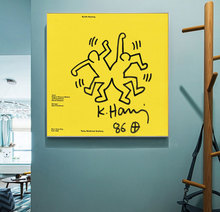 Canvas Painting Decor Oil Painting Wall Picture Poster Modern Wall Art Art Keith Haring Abstract Creative Minimalist Home