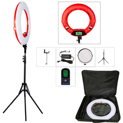 Yidoblo Red FE-480II 5500K Dimmable Camera Photo/Studio/Phone/Video 18 96W 480 LED Ring Light LED Lamp+ 200cm tripod +Bag Kit