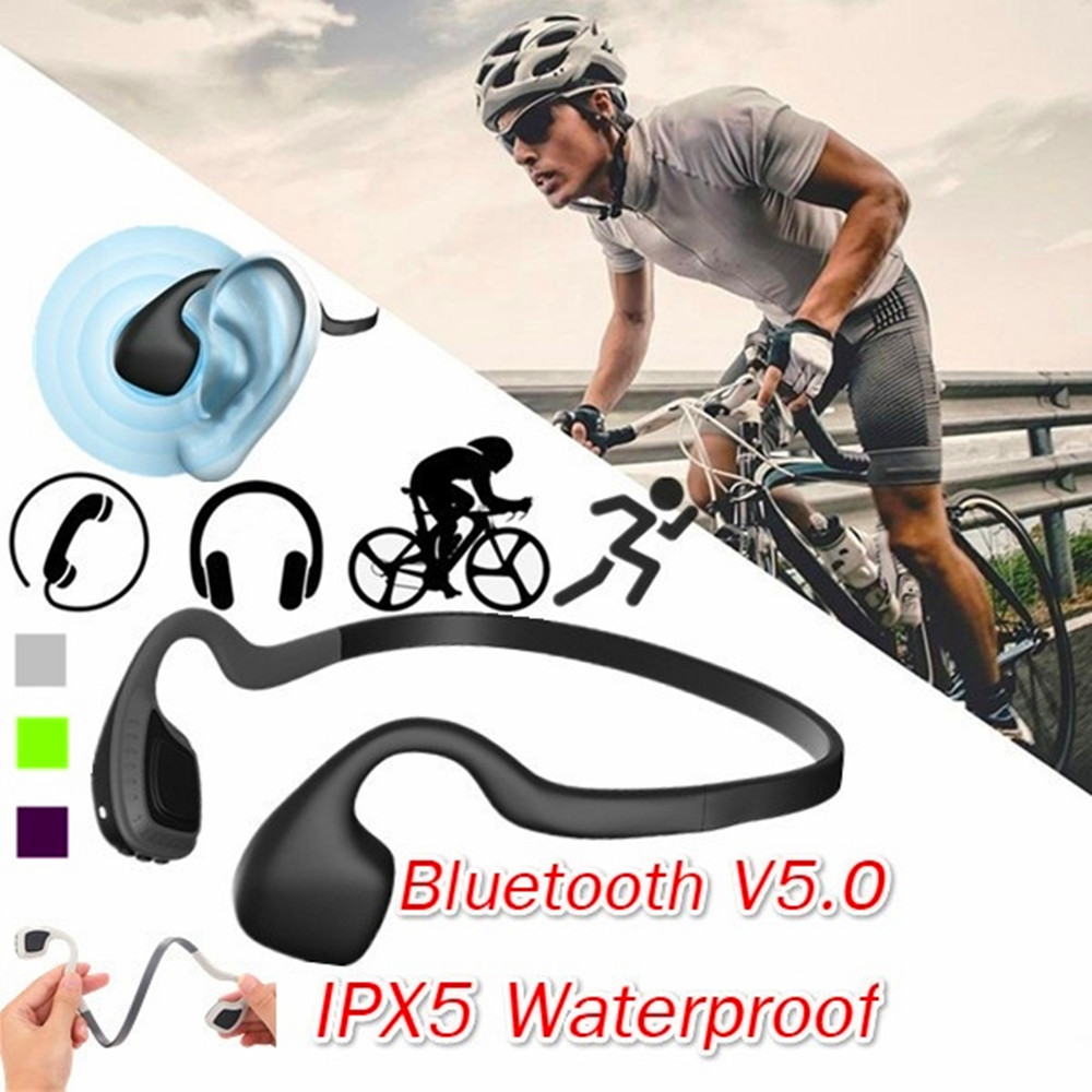 True Bone Conduction Wireless Headphones Bluetooth Earphone with Microphone Gaming Headset Sport Outdoor Handsfree High Quality