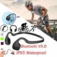 Vero Conduzione Ossea Cuffie Senza Fili Auricolare Bluetooth con Microfono Gaming Headset Sport All'aperto Vivavoce di Alta Qualità