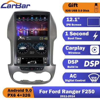 Carbar Tesla Style Vertical Screen Android 9.0 Car DVD GPS Radio Navigation Stereo Audio Player For Ford Ranger F250 2011-2014