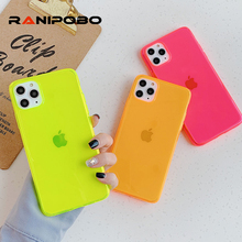 Candy Color Florescent Phone Case For iPhone