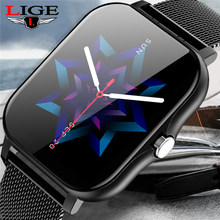 LIGE 2021 New Men Smart Watch Women Bluetooth Call Music Control Heart Rate Monitor Waterproof Men Smartwatch For Android IOS