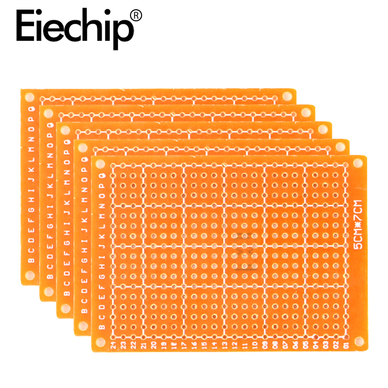 10pcs/lot 5x7cm Single Side Prototype Paper PCB Board 5*7cm Universal Printed Circuit Board 50x70 Mm Diy Electronic Copper Plate