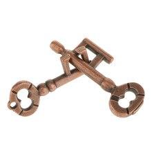De Metal fundido, puzle Retro Vintage llave de bloqueo de IQ mente rompecabezas adultos Juguetes