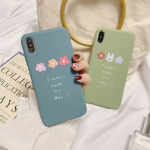 Heyytle Letter Flower Soft TPU Case For iPhone 7 8 Plus XS Max XR X 6 6s  Ultra Slim Full Cover 8Plus Cartoon Couple Cases