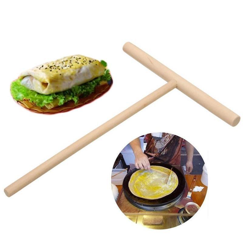 1pcs-New Pancakes Fruit Rake Round Pancake Tools T Egg Cake Scraper shape U9Y0