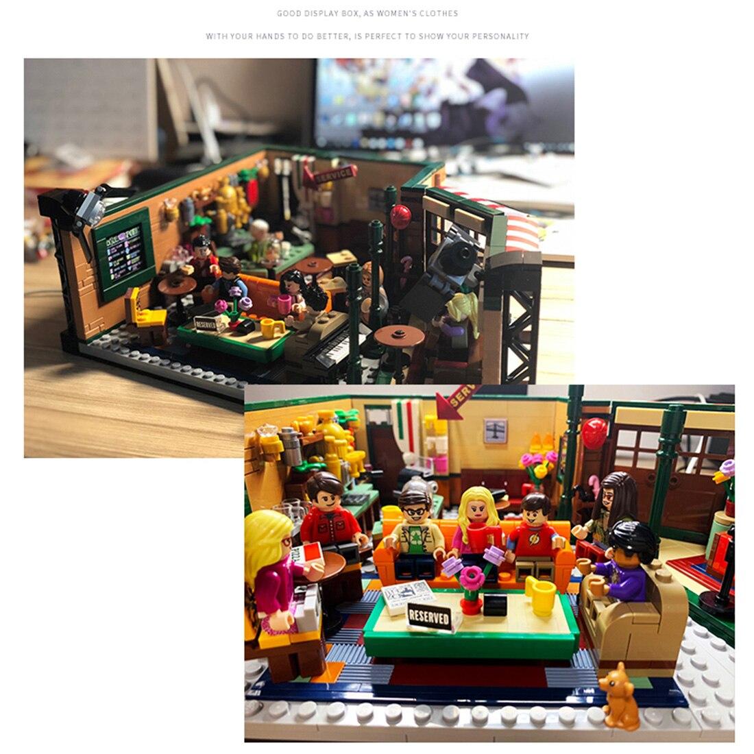 3/5 мм строительный блок акриловые пыле Дисплей коробка литье коробок для друзей кафе 21319 Укладка блоков 21319 игрушки, детские кубики, подарки ... - 5