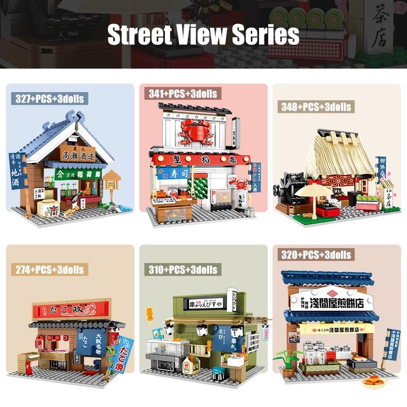 SEMBO Block City Architecture Food Shop Retail Store