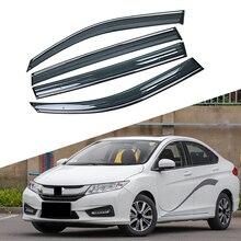 Для HONDA CITY- окна автомобиля Защита от солнца и дождя козырьки щиток Shelter Защитная крышка отделка рамка наклейка внешние аксессуары