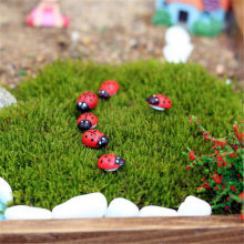 10/20/50/100 pcs/pack Fashion Landscape Mini Ladybug Sponge Self-adhesive Stickers Mini Fridge Magnets Succulent christmas Decor(China)