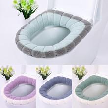 Удобный бархатный коралловый чехол для унитаза для ванной комнаты, моющийся Мягкий теплый коврик, подушка для дома#35