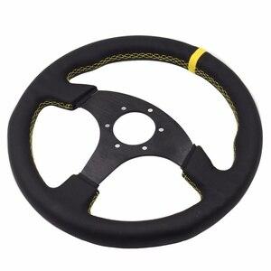Image 3 - Uniwersalny 14 cal 350mm Racing kierownica samosterujące koło do samochodu sportowe skórzane kierownica z Logo