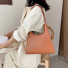 Bolso de mano de diseñador para mujer, bolsa vintage de cuero, informal, de diseñador, 2020