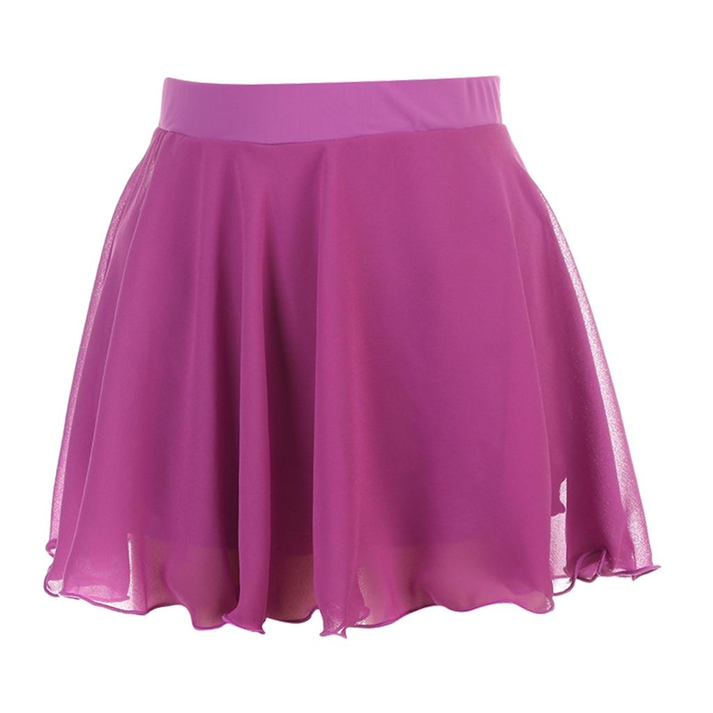Women Girls Double Layerd Ice Skating Dance Skirt Size XXS/XS/X/M/L/XL