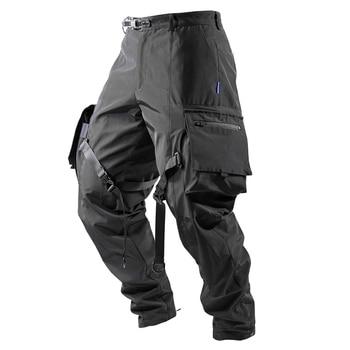 reindee lusion steven cargo pants with straps large pockets waterproof outdoor techwear darkwear ninjawear 1