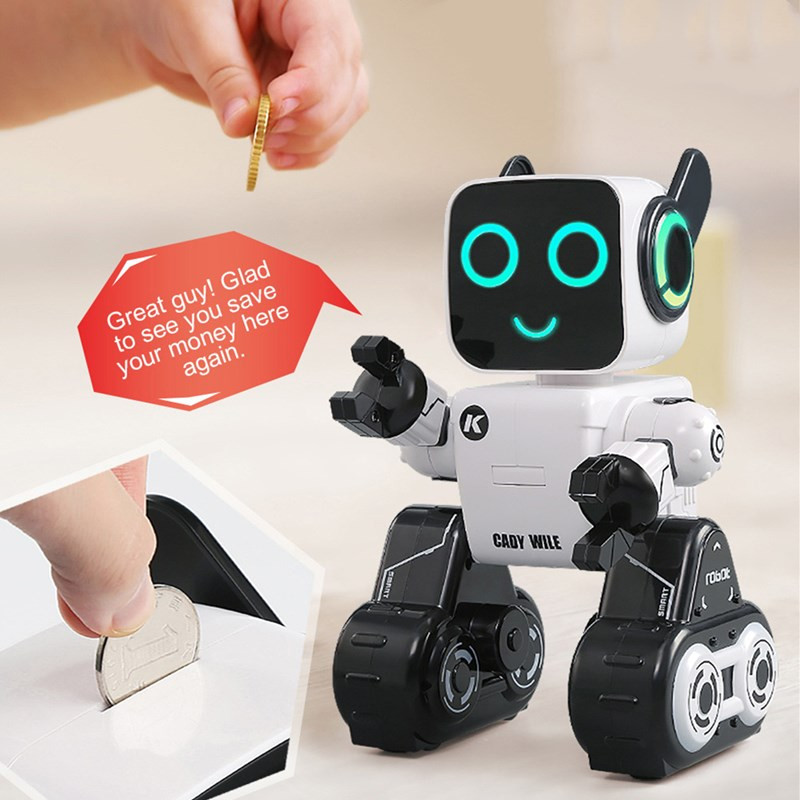 JJRC RC Robot High-Tech Intelligence Remote Control Toys 2.4G Coin Bank Mechanics RC Toys Gift for Children Adult Jjrc R4