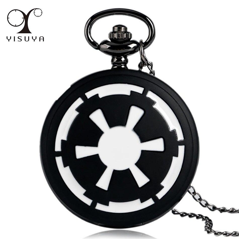 Black White Wheel Design Necklace Watch Vintage Quartz Pocket Watch Arabic Numerals Display Pendant Clock Gifts Kids