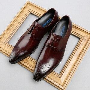 Мужская официальная обувь; Мужские оксфорды из натуральной кожи; Свадебные туфли; Мужские броги на шнуровке; Офисные туфли; B180