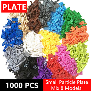 Image 2 - 1000pcs Building Rainbow Color Blocks Plate 8 Model Kits Playing Figures Pieces Compatible MOC Brick Toys for Kids Build Game