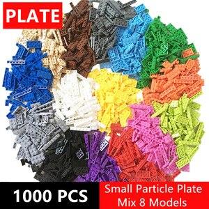 Image 2 - 1000pcs di Costruzione Arcobaleno Blocchi di Colore Piatto 8 Modello di Kit di Gioco Figure Pezzi Compatibile MOC di Mattoni Giocattoli per I Bambini di Costruzione gioco