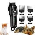 Kemei триммер для волос с животными беспроводной керамический 4 расчески перезаряжаемый машинка для стрижки домашних собак машинка для стриж...
