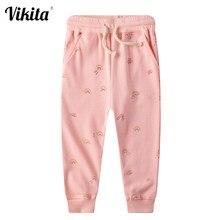 VIKITA kız tozluk gökkuşağı çocuklar sonbahar bahar pantolon cep tayt çocuklar çocuklar için pamuklu tozluklar pantolon pantolon