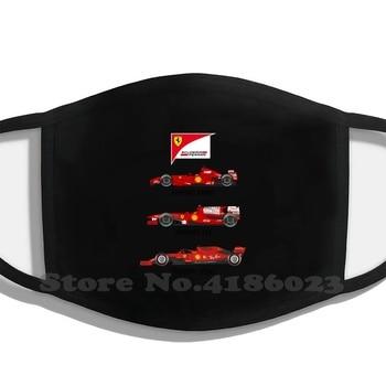 Ferrari-mascarilla de algodón para hombre, máscara divertida de 2007 a 2019, Kimi,...