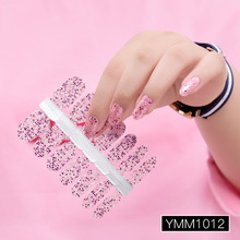 14pcs/sheet Nail Beauty Sticker Lasting Sequin Safe Non-toxic For Pregnant Woman Stickers 29 Colors