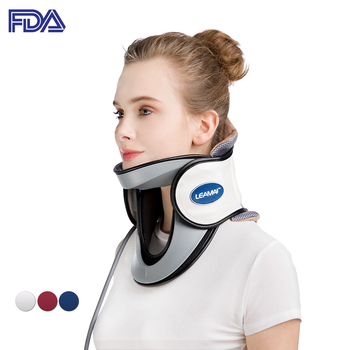 Medical Inflatable Neck Traction Cervical Collar Tractor Upper Pain Relief Household Home Use Soft Pillow Stretcher